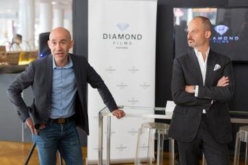 Presentacion DIAMOND FILMS Carles Montiel izq y Gonzalo Claiman-Versini