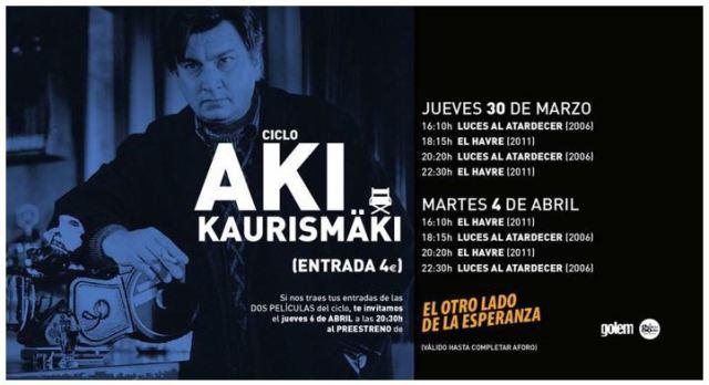 Ciclo Aki Kaurismäki -Cines Golem-