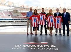 El equipo de La momia en el Wanda Metropolitano