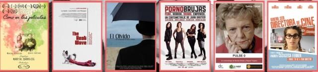 Mujeres de cine -carteles 6 cortos-