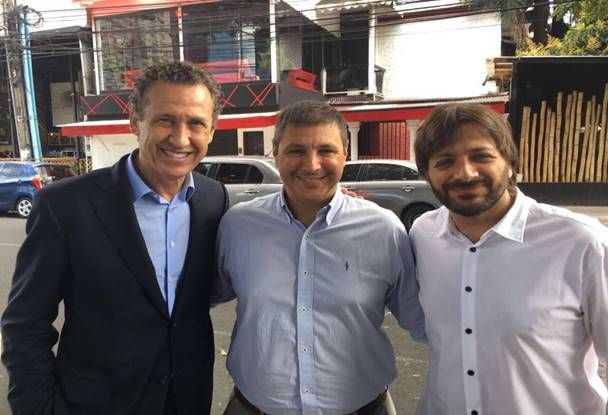 Jorge Valdano, Gustavo Leone y Bernat Elías