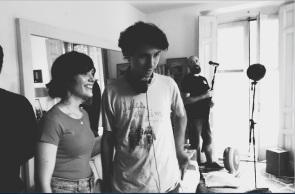 La virgen de agosto -rodaje- Itsaso Arana y Jonás Trueba