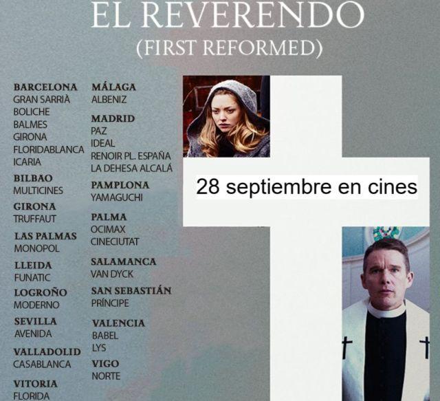 Salas donde ponen El reverendo -28 sep 2018-
