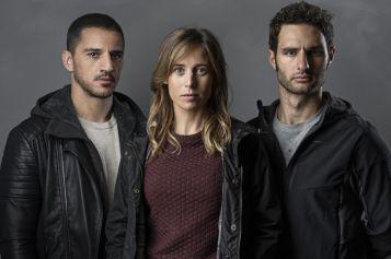 Trilogía del Baztán. Carlos Librado 'Nene' -izq-, Marta Etura -centro- y Benn Northover