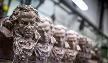 Goya Awards Trophies in Production by artist JosÈ Luis Fern·ndez